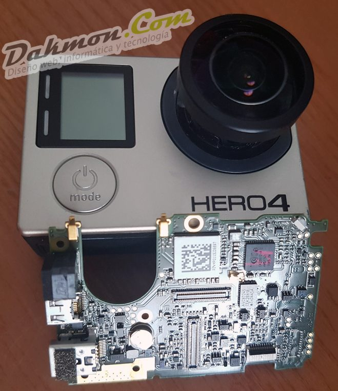 Reparación de placa base GoPro 4 Black